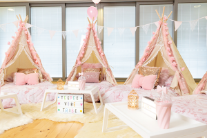 pretty in pink is our most popular teepee hire